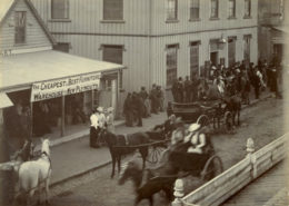 Election day in New Plymouth, 1893