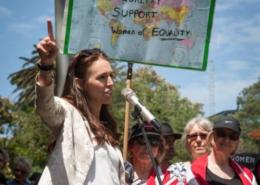 Jacinda Adern at Womens March January 2017