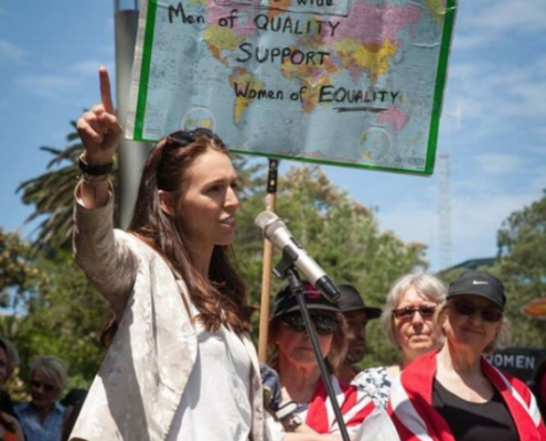 Jacinda Adern at Womens March January 2017